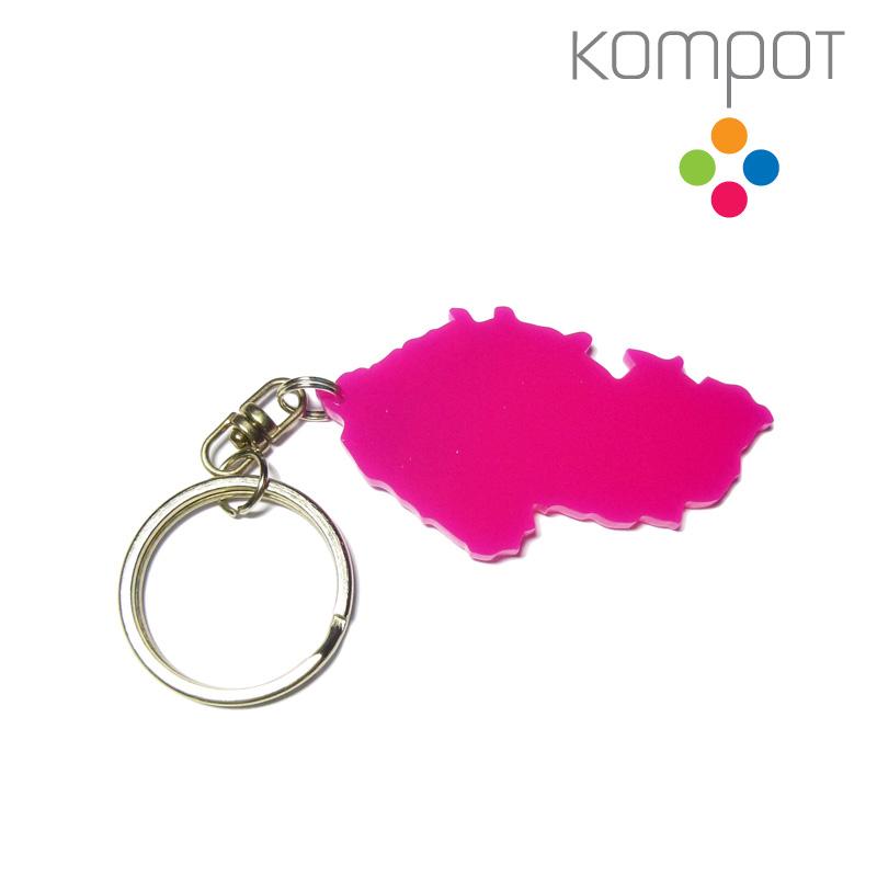 03c7cac89662 Klíčenka ČESKÁ REPUBLIKA    růžová